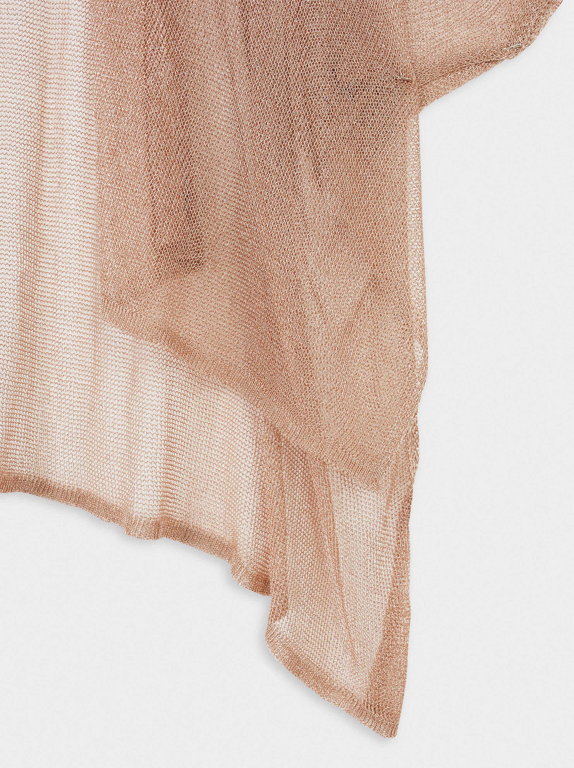 Open Knit Kimono, Orange, hi-res