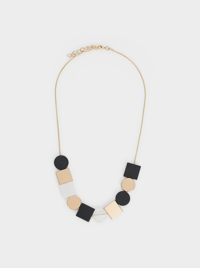 Collar Corto Blog Geométrico, Multicor, hi-res