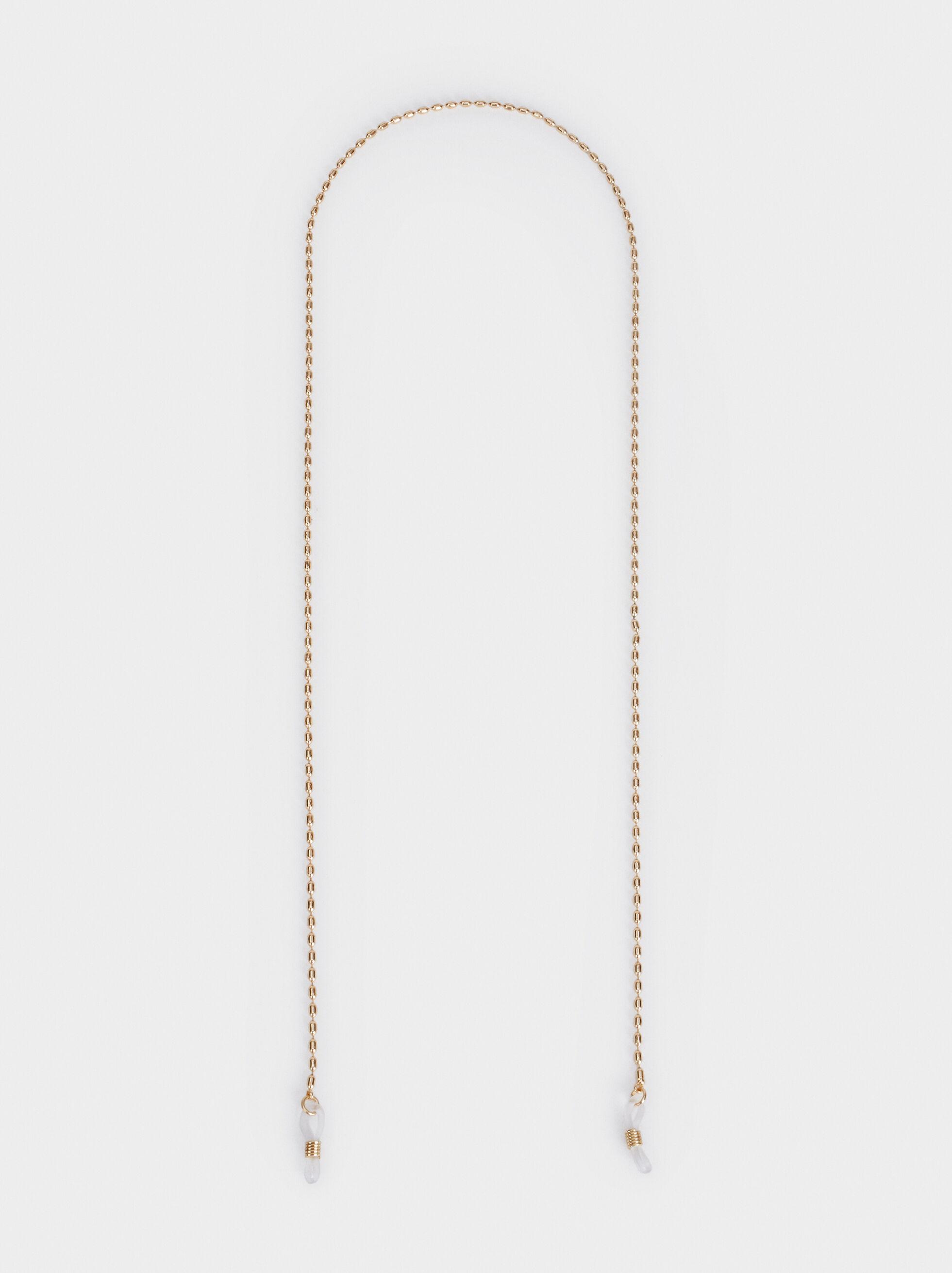 Metal Glasses Cord, Golden, hi-res