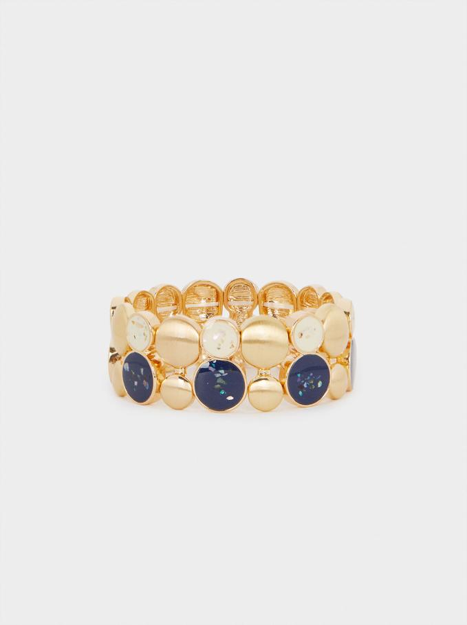 Enamel Elastic Bracelet, Multicolor, hi-res