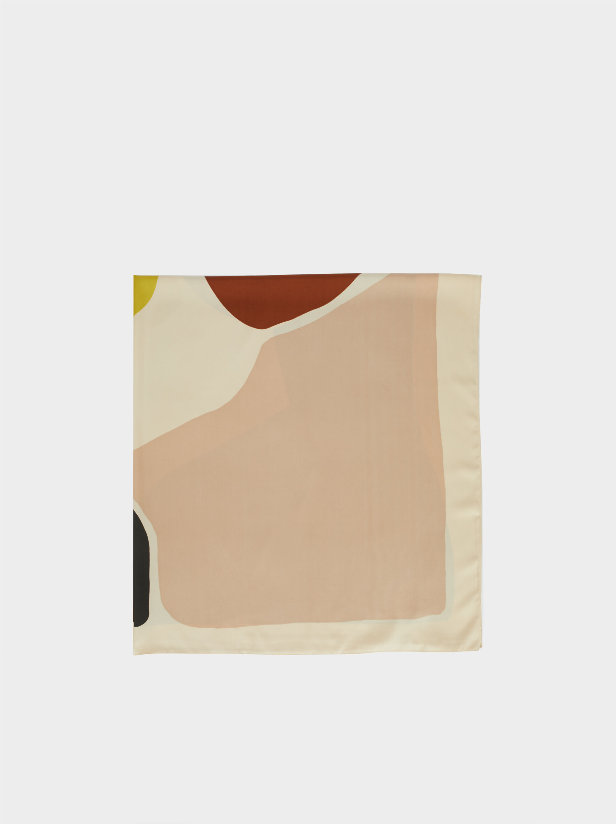 Printed Square Scarf, Ecru, hi-res