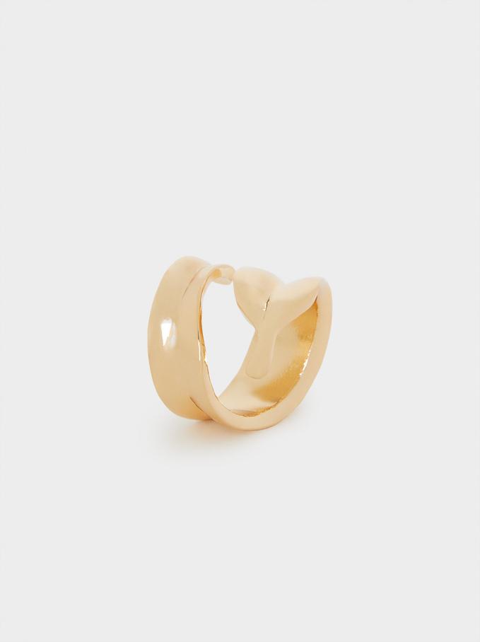 Golden Spiral Ring, Golden, hi-res