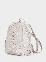 Floral Print Backpack, Ecru, hi-res