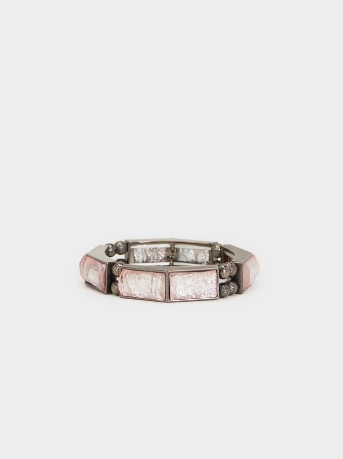 Elastic Cosmic Pink Bracelet, Multicolor, hi-res