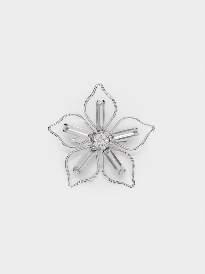 Broche Fleur, Argent, hi-res