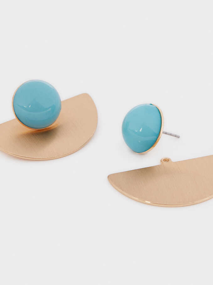 Recife Stone Stud Earrings, Blue, hi-res