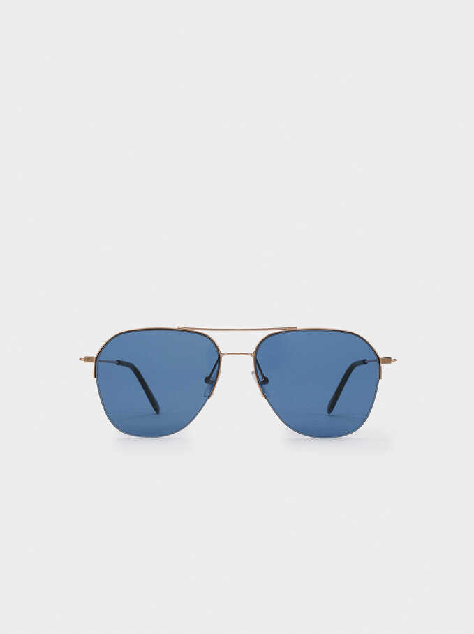 Gafas De Sol Aviador, Naranja, hi-res