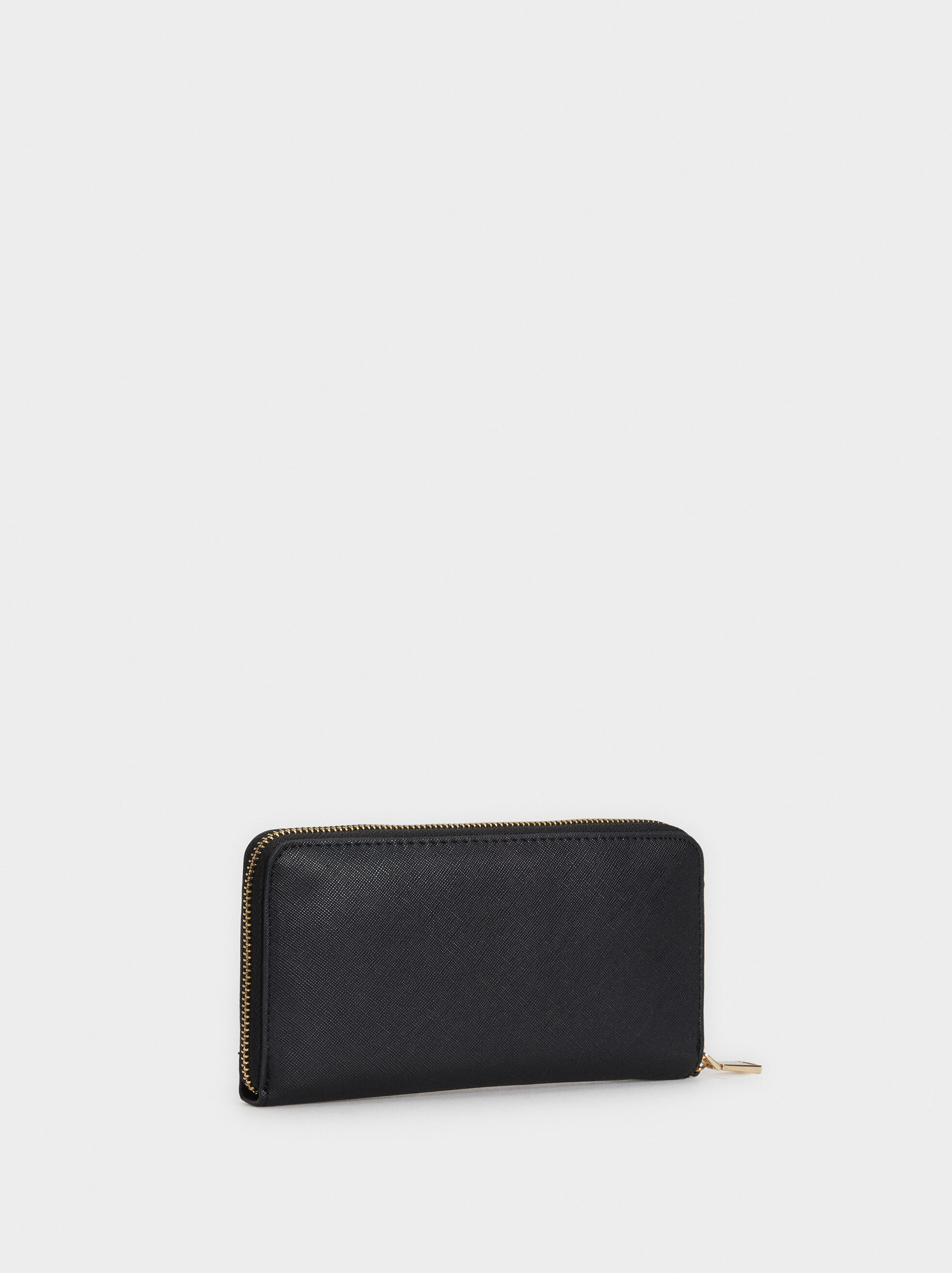 Large Wallet With Handle, Black, hi-res