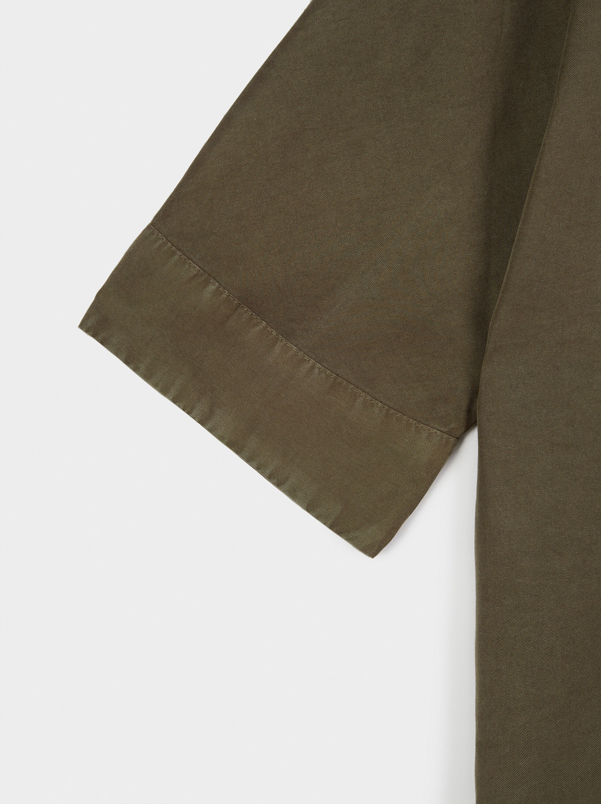 Shirt With Button Details 100% Lyocell, Khaki, hi-res