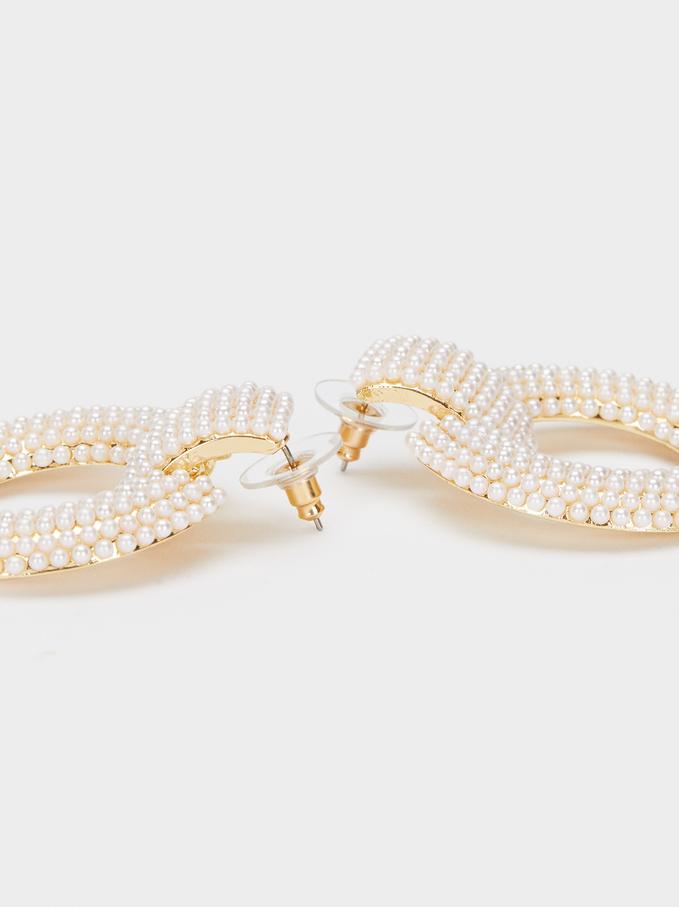 Boucles D'Oreilles Longues De Perles, Blanc, hi-res
