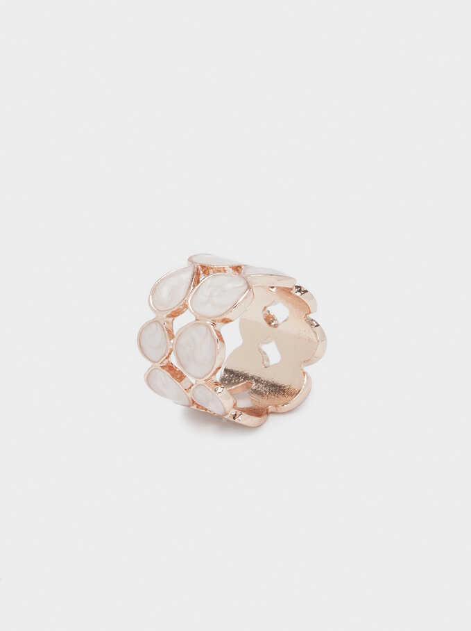 Neutral Enamel Ring, Orange, hi-res