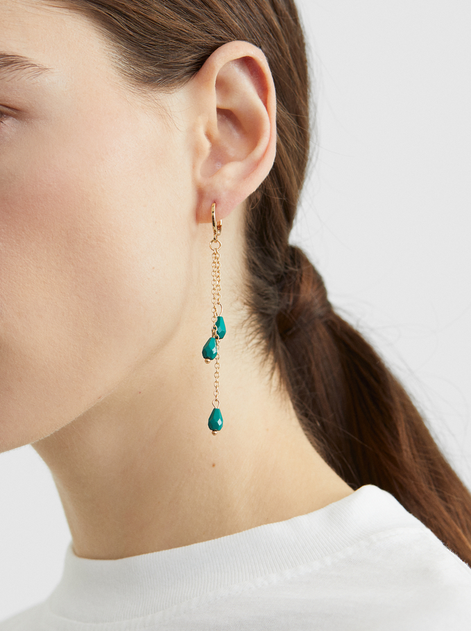 Gold Hoop Earring Set, Multicolor, hi-res