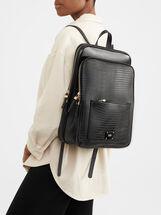 Animal Embossed Backpack, Black, hi-res