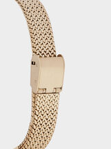 Relógio Com Correia De Aço, Dourado, hi-res