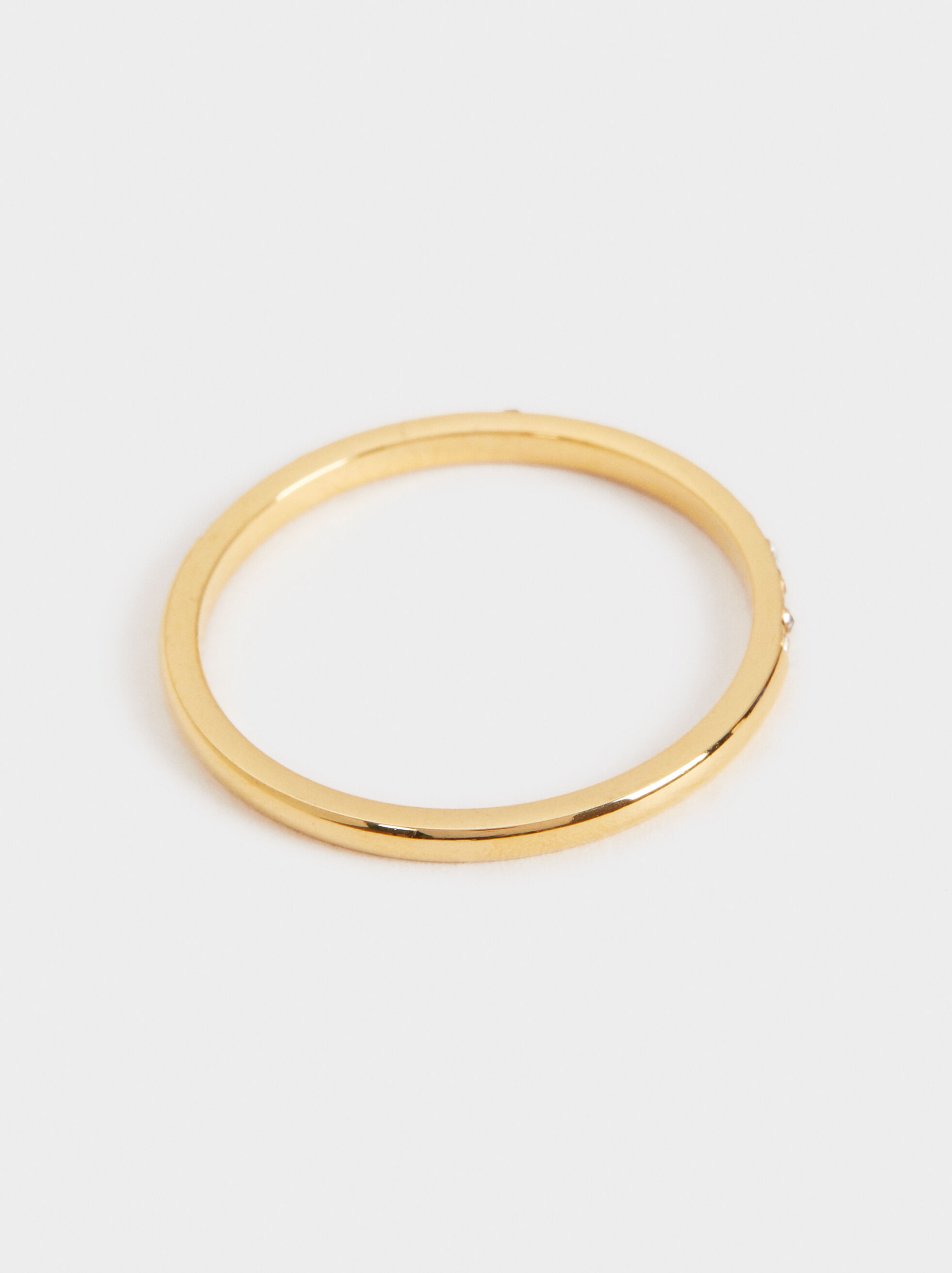 Stainless Steel Ring, Golden, hi-res