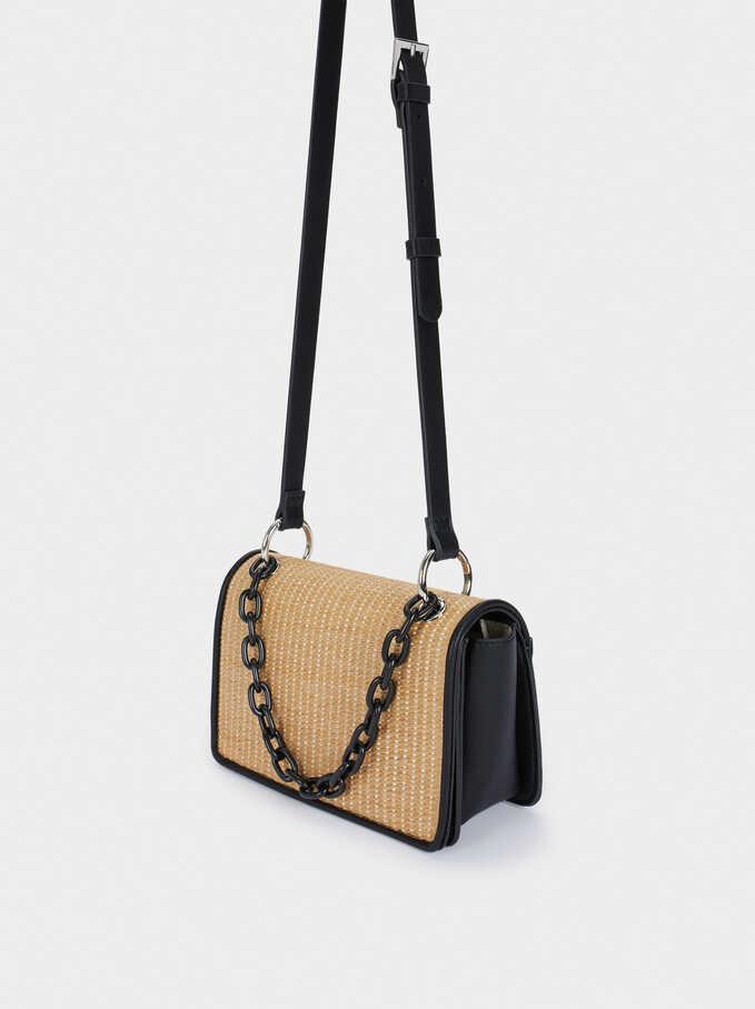 Raffia Textured Crossbody Bag, Ecru, hi-res
