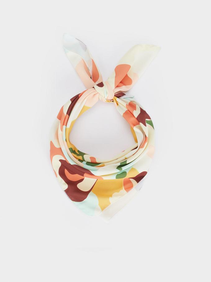 Printed Knot Headband, Multicolor, hi-res