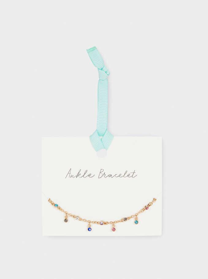 Bracelet De Cheville Avec Cristaux, Multicolore, hi-res