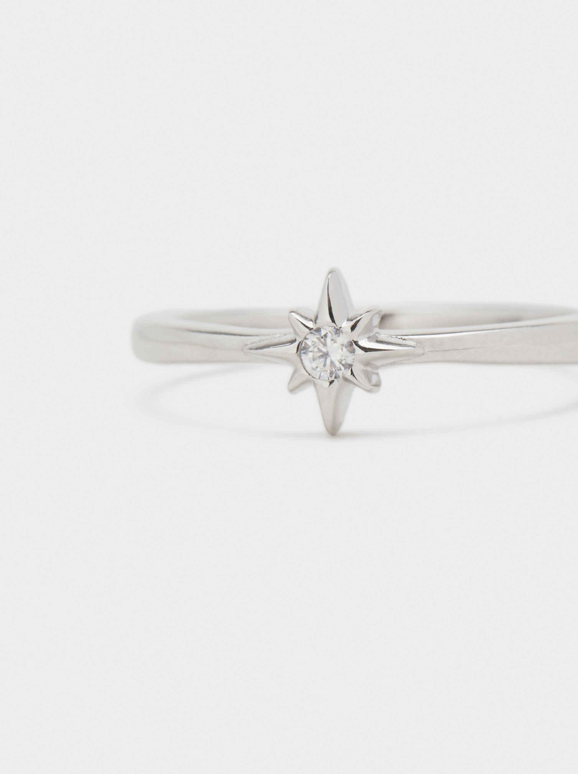 Anillo De Plata 925 Estrella, Plateado, hi-res