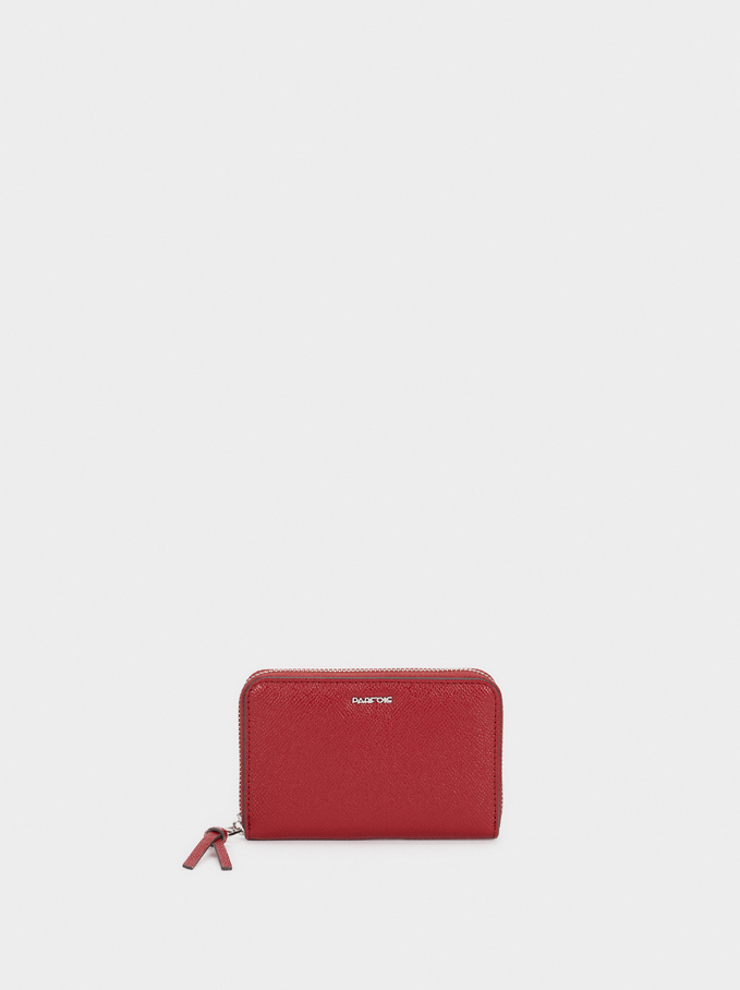 Small Textured Purse, Red, hi-res