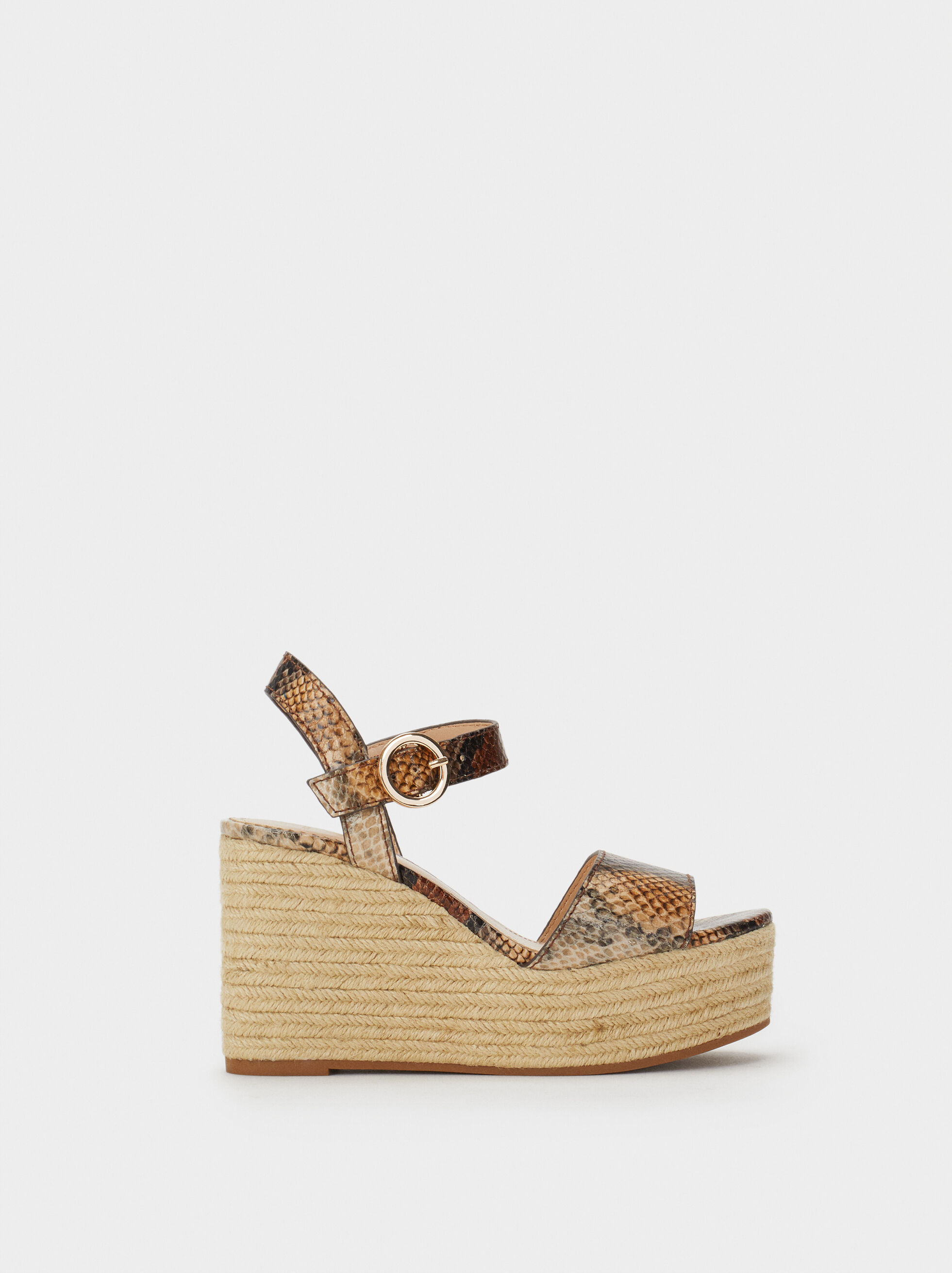 Wedges With Snakeskin Print, , hi-res
