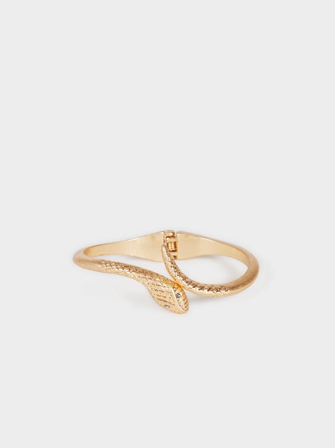 Basic Rigid Bracelet, Golden, hi-res