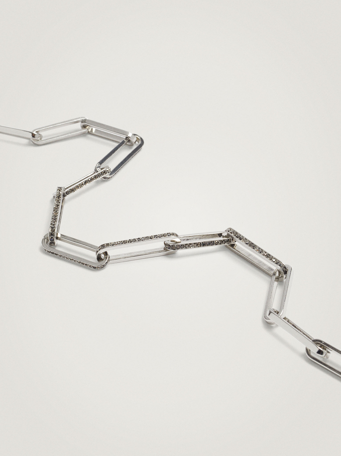 Silver Chain Necklace, Silver, hi-res