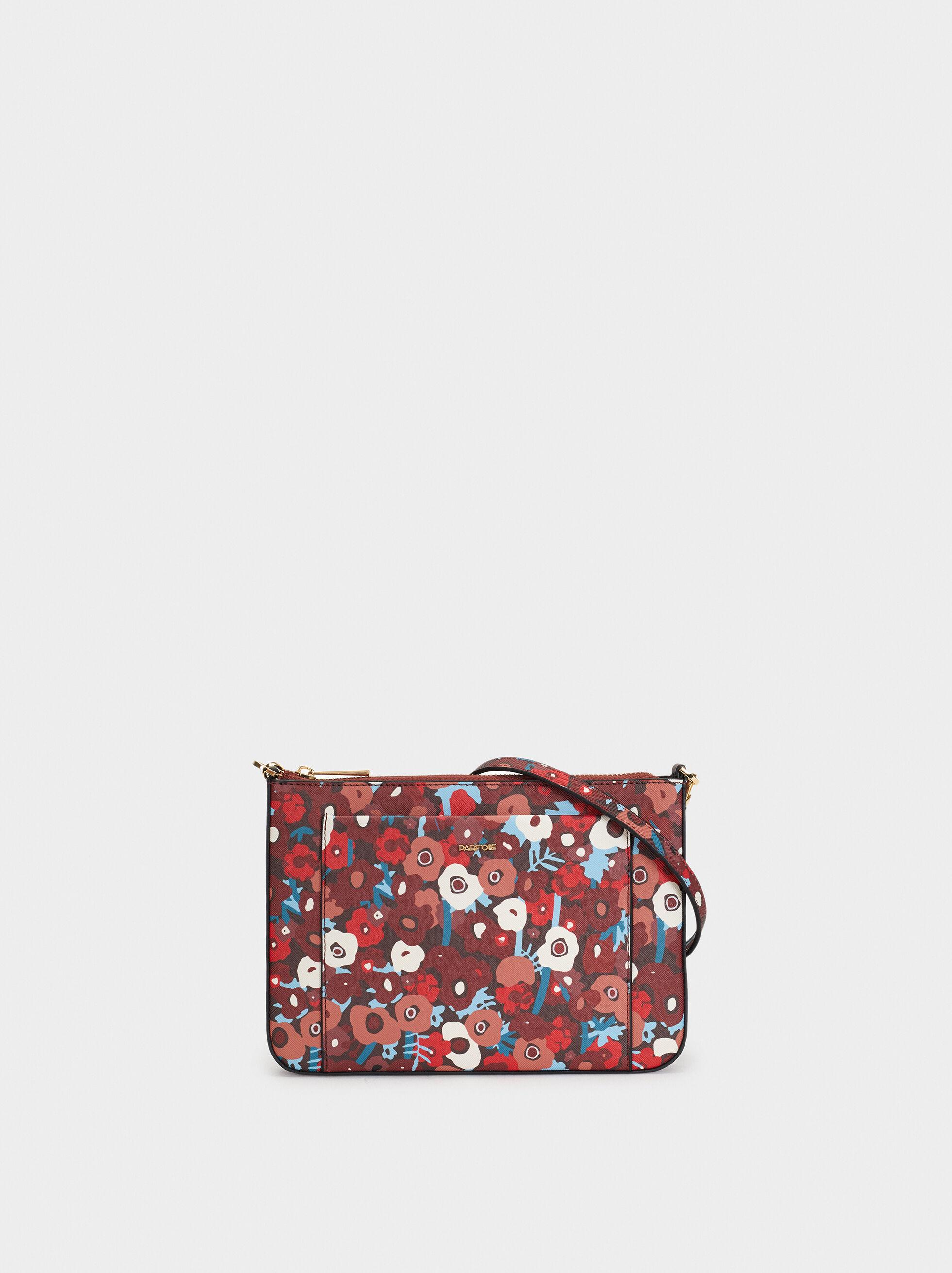 Printed Shoulder Bag, Pink, hi-res