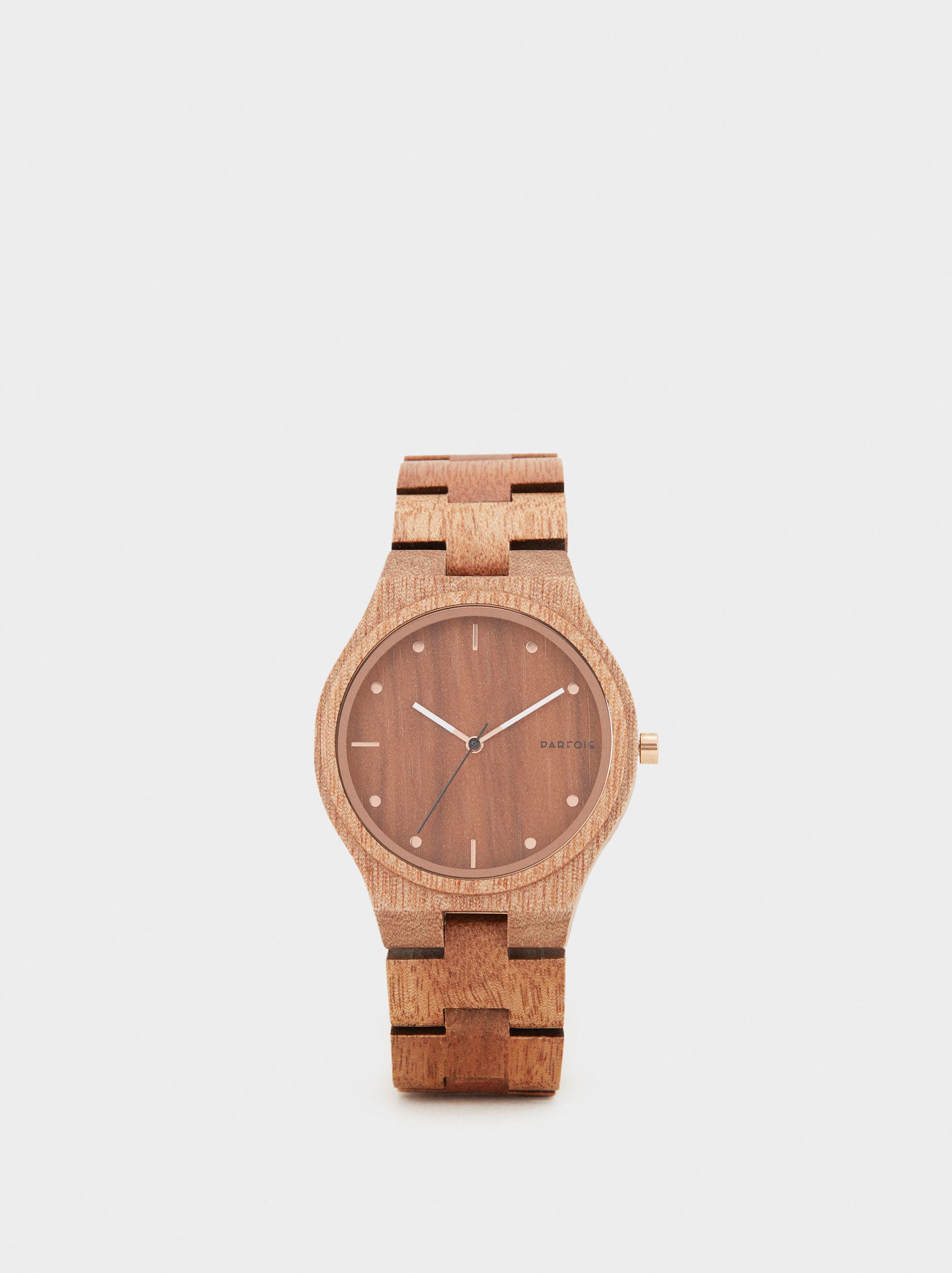 Wooden Watch, Brown, hi-res