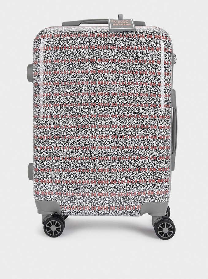 Trolley De Viaje Estampado, Gris, hi-res