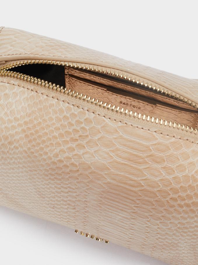 Animal Print Crossbody Bag, Brown, hi-res