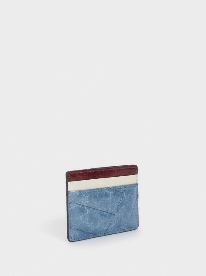 Multicoloured Card Holder, Blue, hi-res
