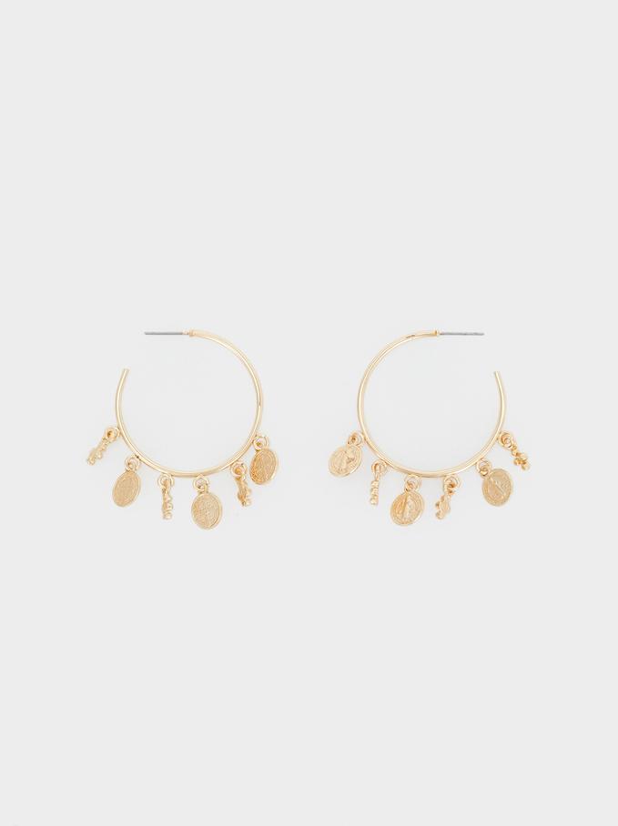 Hoop Fever Large Hoop Earrings, Golden, hi-res