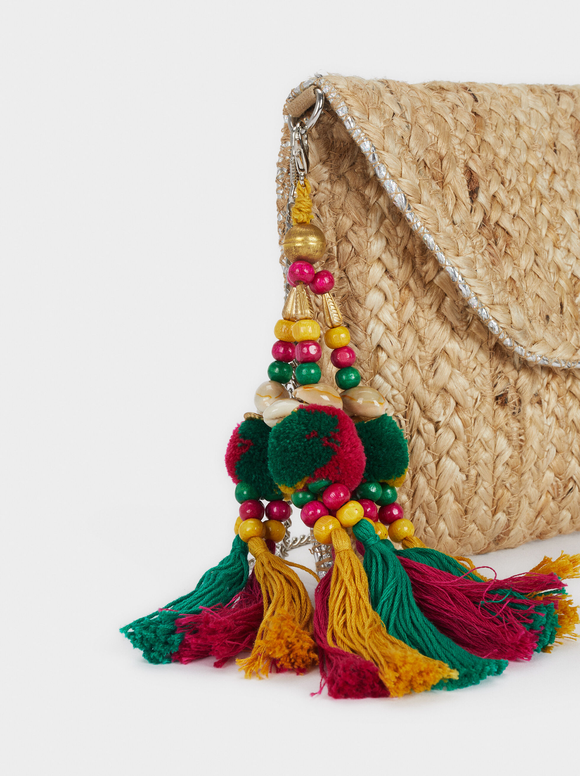 Raffia Party Clutch, Ecru, hi-res