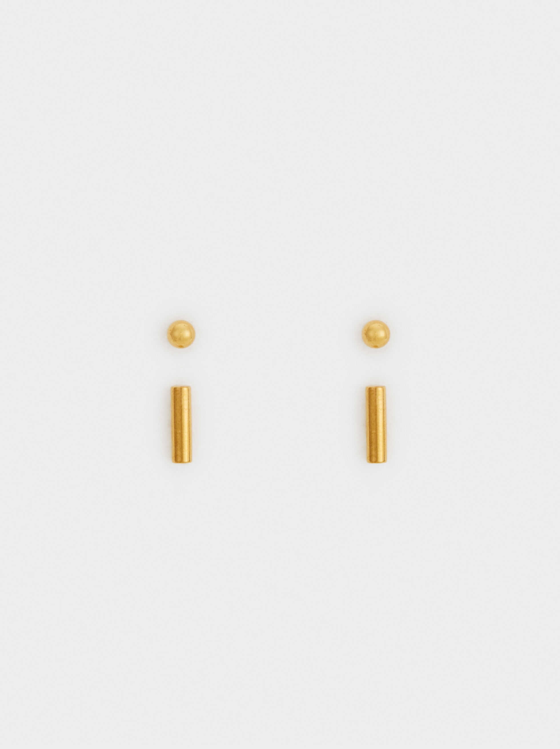 Set Of Steel Earrings, , hi-res