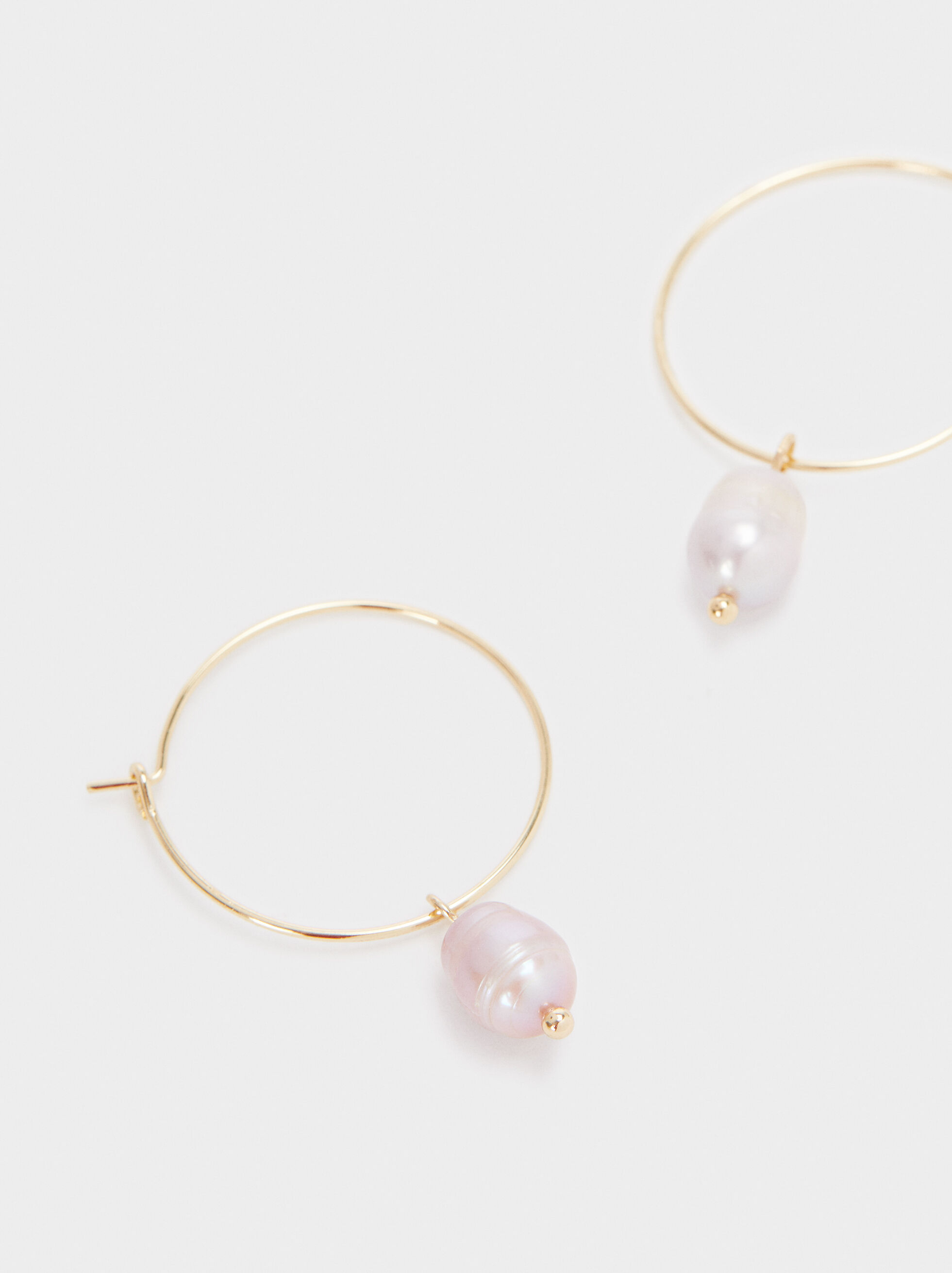 Watercolor Medium Hoop Earrings, White, hi-res
