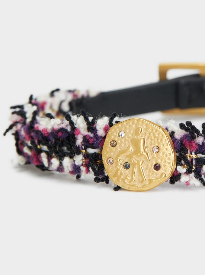 Stainless Steel Gold Bracelet, Multicolor, hi-res