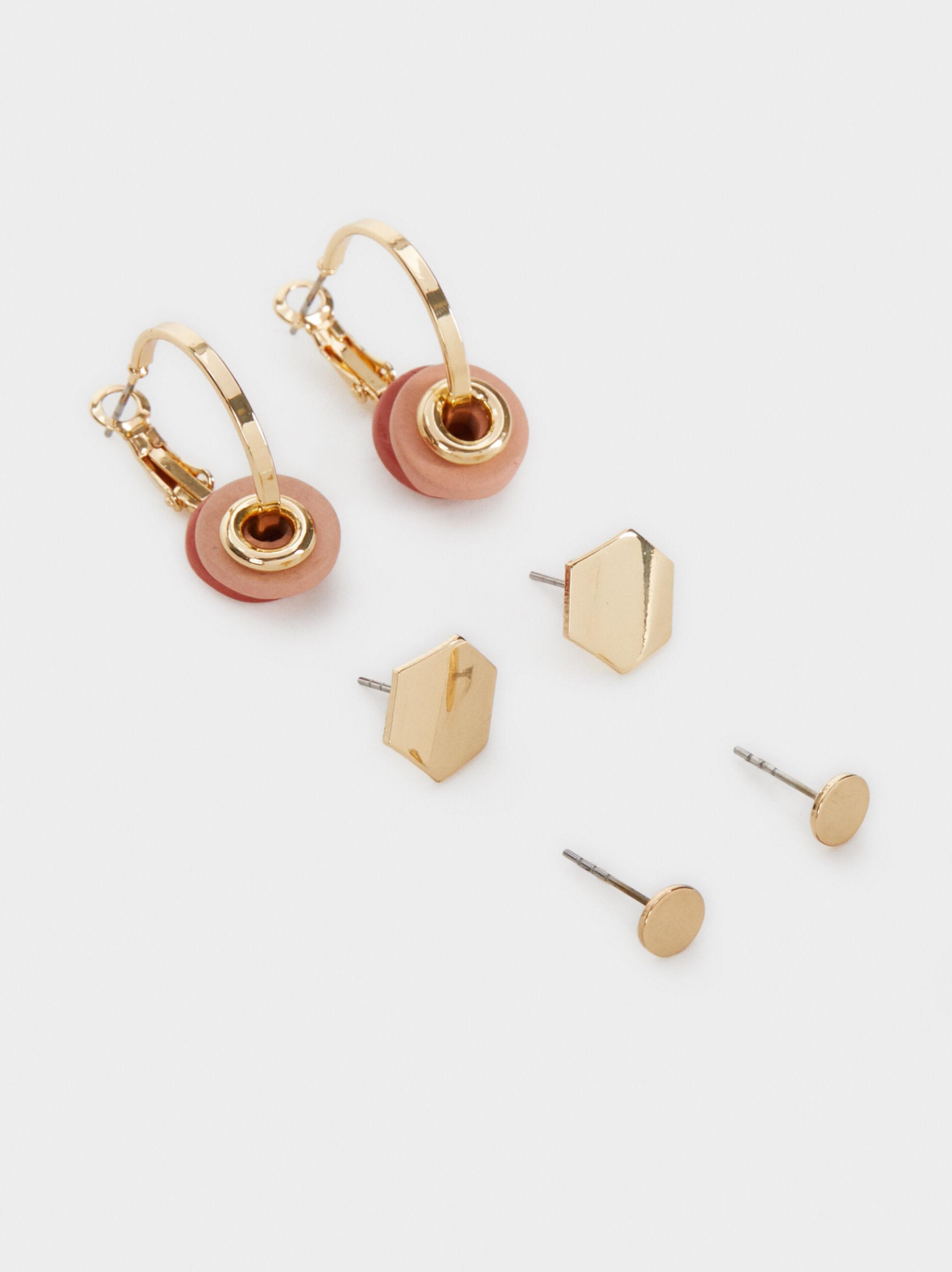 Land Set Of Earrings, Multicolor, hi-res