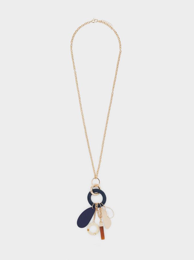 Long Necklace With Pendants, Multicolor, hi-res