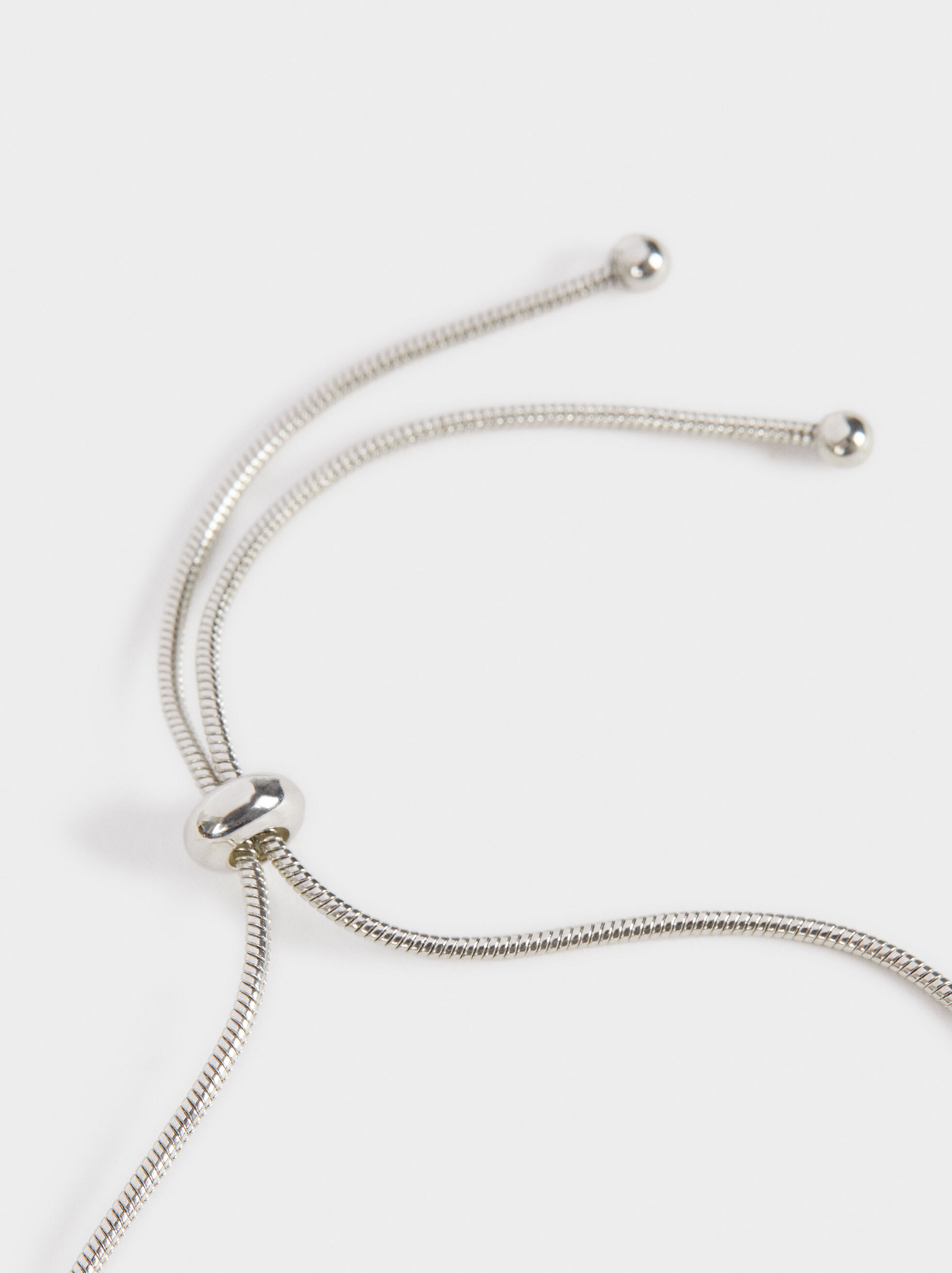 Boy'S Adjustable Heart Bracelet, Silver, hi-res