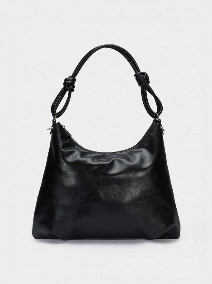 Handbag With Double Handle, Black, hi-res