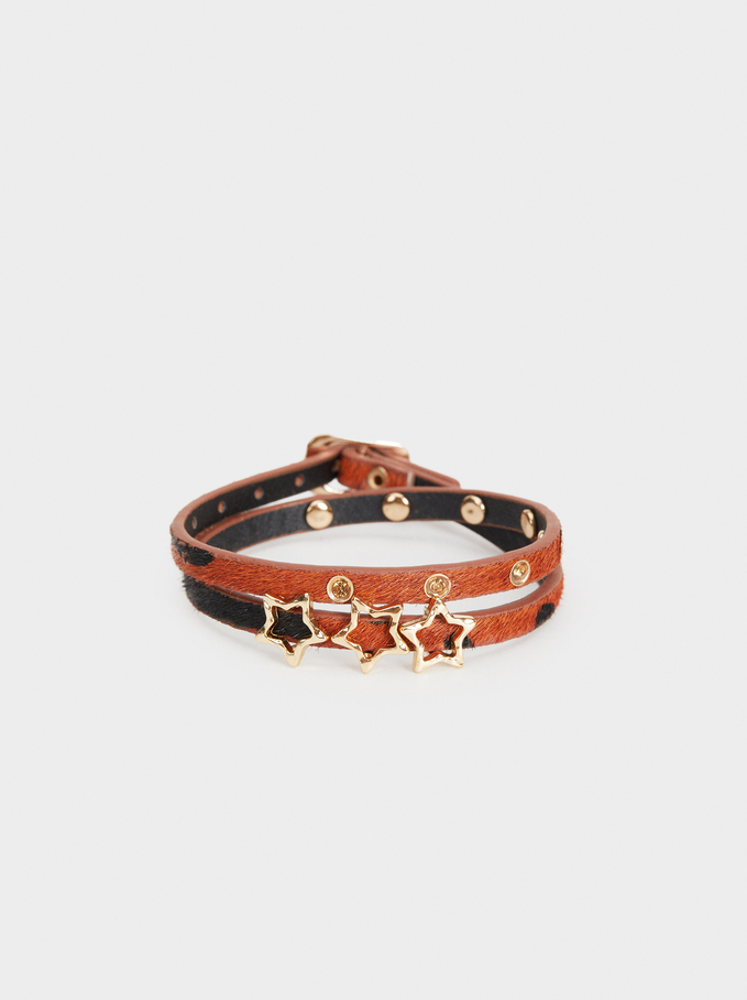 Animal Fever Adjustable Bracelet, Camel, hi-res