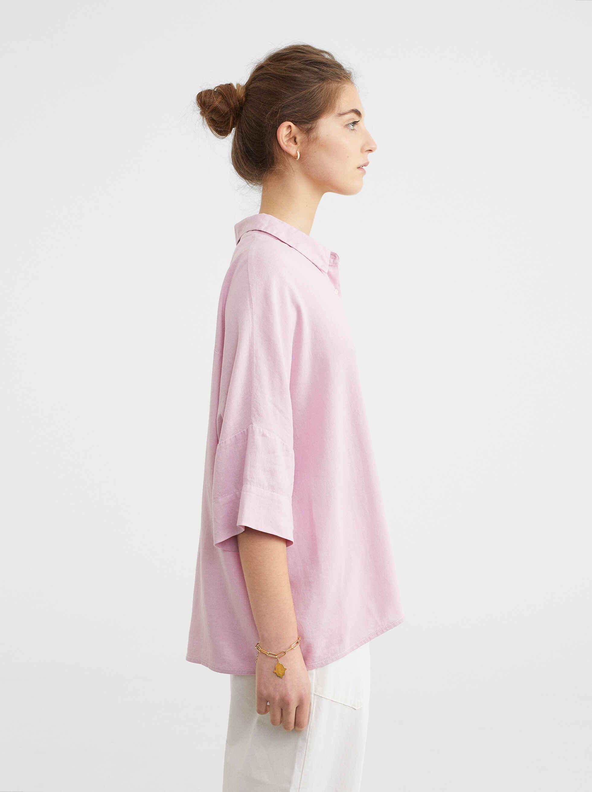 Camisa Oversize Lisa, Rosa, hi-res