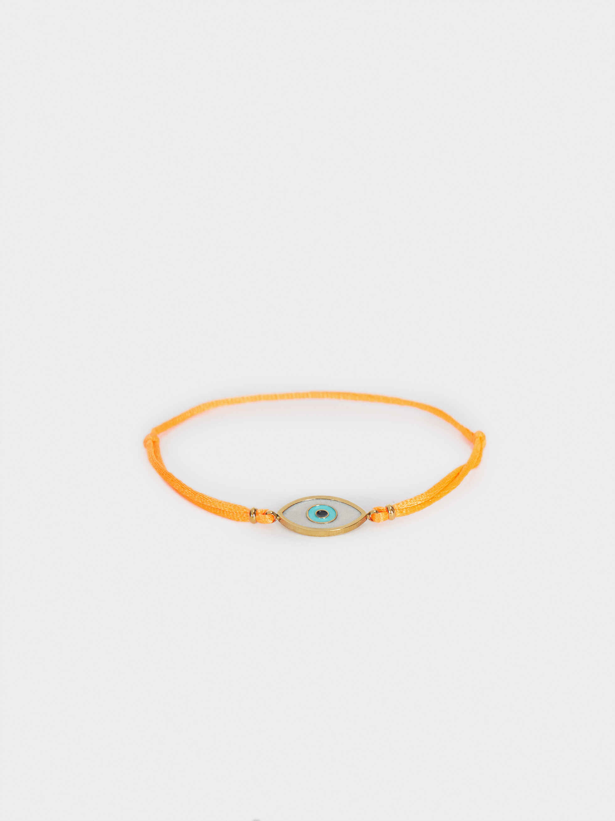 Adjustable Chain Bracelet With Eye Detail, Orange, hi-res