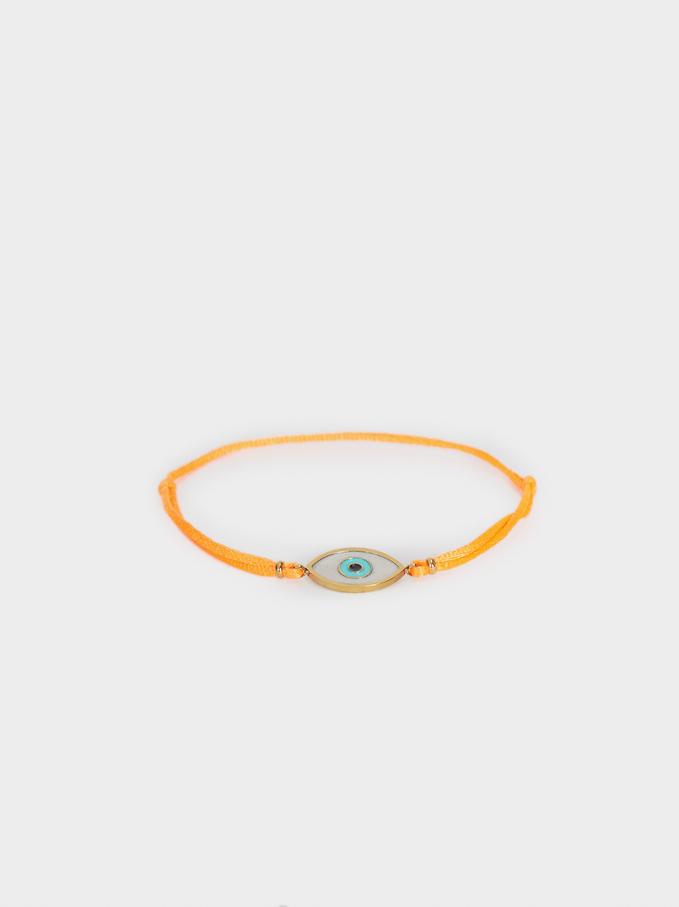 Bracelet Avec Cordon Réglable Œil, Orange, hi-res