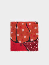 Polka Dot And Strawberry Neckerchief, Red, hi-res