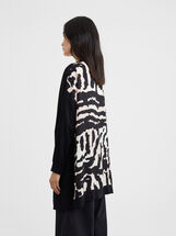 Knit Cardigan, Black, hi-res