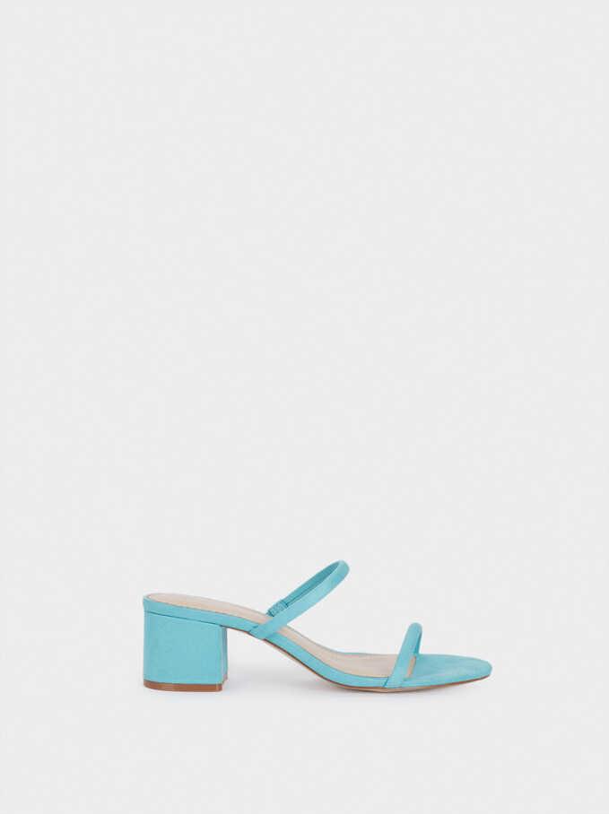 Sandales Talons Hauts À Brides, Bleu, hi-res