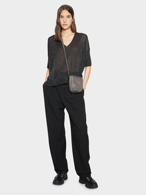 Fine Knit Shimmer Sweater, , hi-res