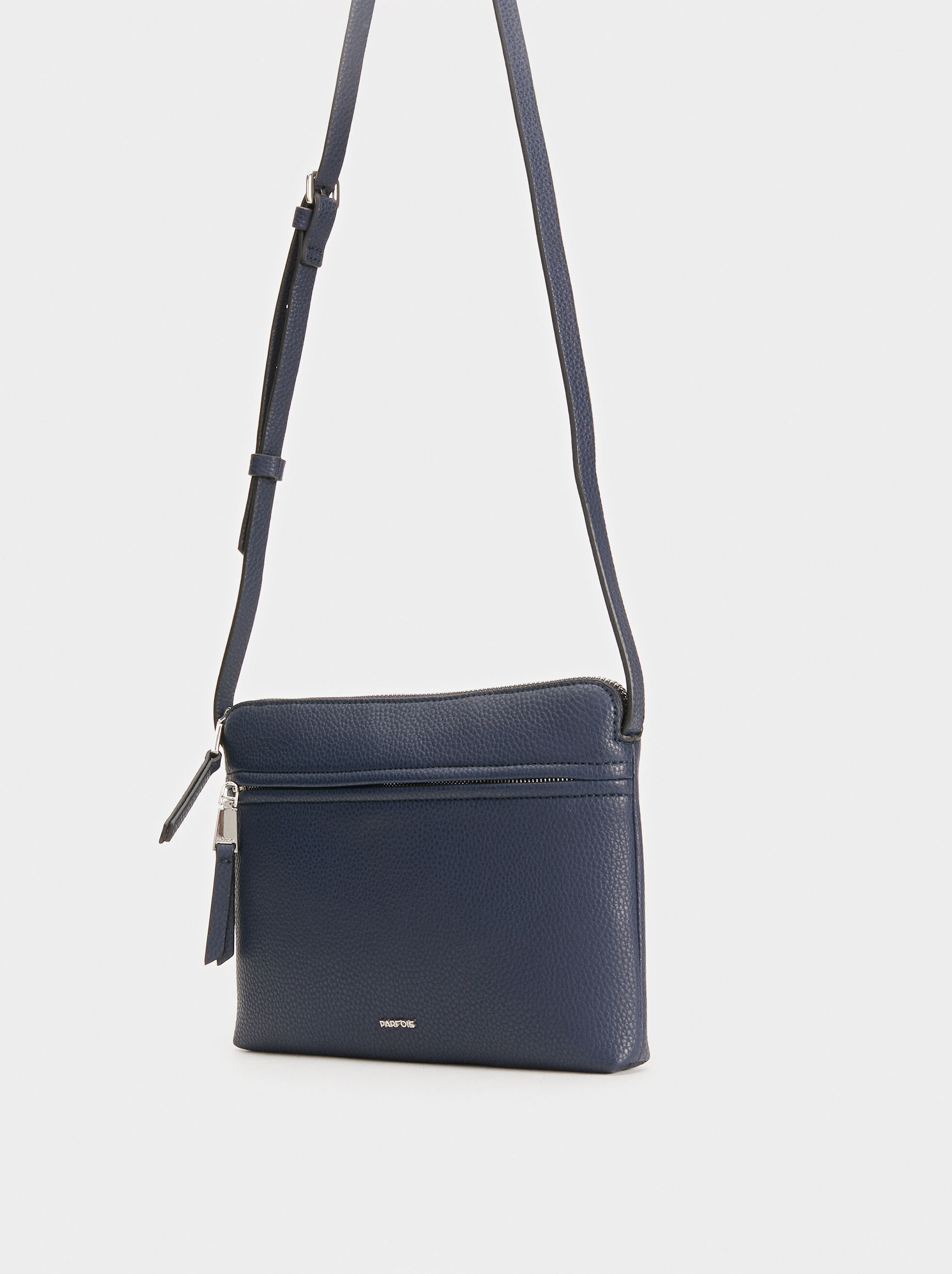 Crossbody Bag With Outer Pocket, Navy, hi-res